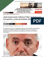"""¿Qué Traerá 2016 a México_ Más Ayotzinapas"""", Corrupción y Crisis de Estado, Dice Buscaglia"""
