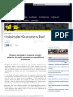 A Trajetória Das HQs de Terror No Brasil - UNIVERSO HQ