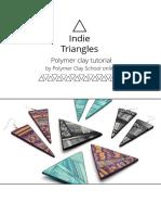 Polymer Clay School Tutorial Indie Triangles