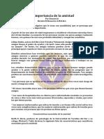 Amistad, La Importancia de La - Abr91 - Dianne-Jo