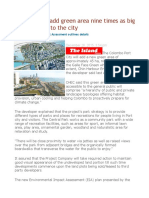 Port City Will Add Green Area Nine Times as Big as Galle Face to the City