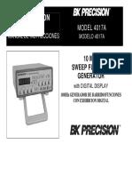 Bk Precision 4017A User Manual