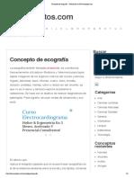 Concepto de ecografía - Definición en DeConceptos