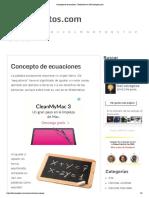 Concepto de ecuaciones - Definición en DeConceptos