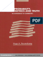 Probability Econoetrics & Truth-The Methodology of Econometrics-Keuzenkamp