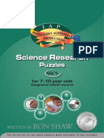 Science Research Puzzles Vol 1