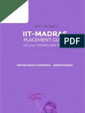 IIT-M Placement Guide 2015-16 | Tech Start Ups | Venture Capital