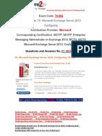 [Braindump2go] Latest 70-662 PDF Free 31-40
