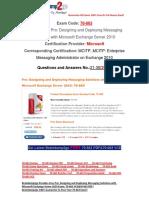 [Braindump2go] Latest 70-663 Exam Questions Free Download 21-30