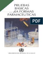 Pruebas Básicas Para Formas Farmacéuticas