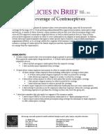 Insurance Coverage of Contraceptives - Guttmacher Institute June 2011