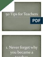 50 Tips for Teachers