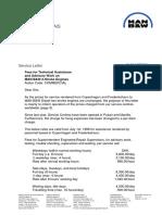 SL99-367 B&W Service letter