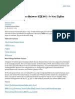 Difference Between i Eee 80215 and Zig Bee Wireless