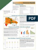 Child Marriage Country Profile LACDOM Dominican Republic