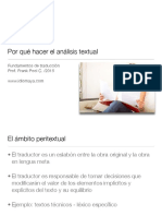 Análisis Textual Para La Traducción.