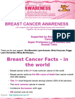 Breast Cancer Awareness supported by Ronald Tintin, Super Professeur, Lyna Hussein and Ronning Against Cancer
