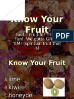 Know Your Fruits