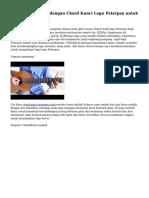 Alasan Main Gitar dengan Chord Kunci Lagu Peterpan untuk Pemula