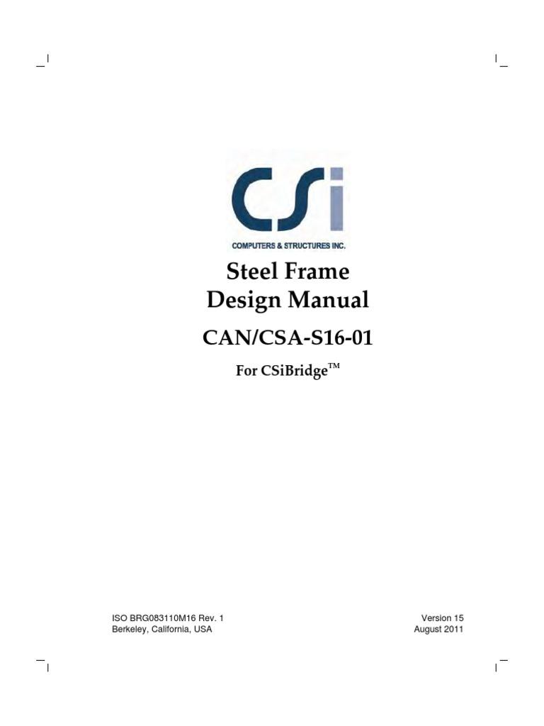 steel manual bending buckling rh scribd com steel frame design manual etabs integrated building design software steel frame design manual