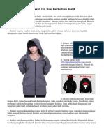 Tips Memelihara Jaket On line Berbahan Kulit