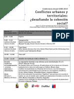 Programa Conferencia Anual COES 20151
