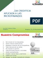 Tecnologia Crediticia Aplicada a Las Microfinanzas