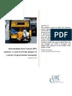 Intermediate Para Transit Study
