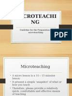 microteaching guideline