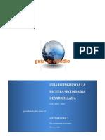 Guia de Ingreso a La Secundaria Matematicas 1 - 2015