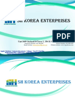 SH KOREA ENTERPRISES Company Profile 2015