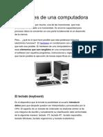 Las Partes de Una Computadora