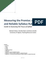 Syllabus Rubric Guide 11-24-14