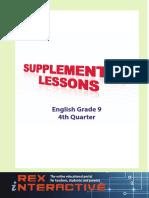 Supplemental English High School Grade 9 4rth Q