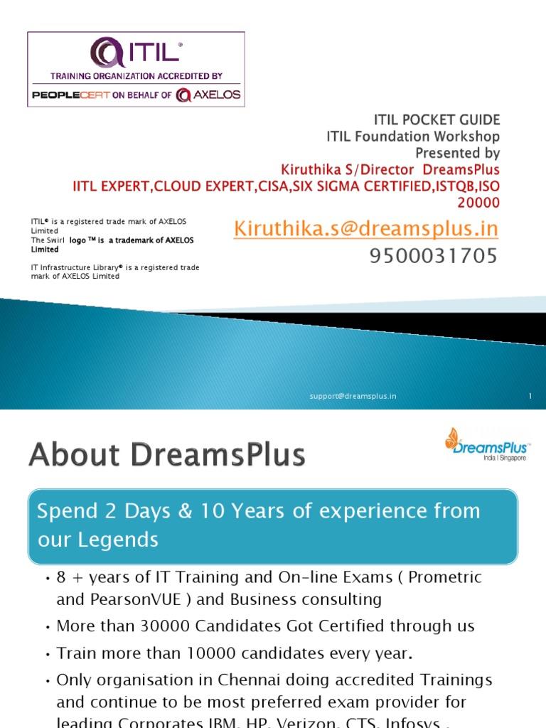 Itilpocket Guide V3 2011pdf Itil Service Level Agreement