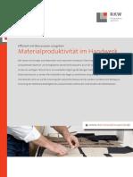 2013 Faktenblatt Materialproduktivitaet Handwerk