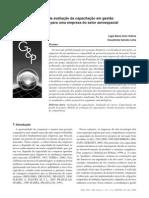 Modelo avaliação capacitação gestão projetos setor aeroespacial