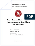 Relationship between risk management and firm performance
