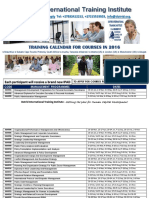 AVAILABLE COURSES FOR 2016 AT DOTRID INTERNATIONAL TRAINING INSTITUTE