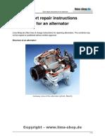 Instructions for Repairing Alternator