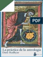 La práctica de la Astrología de Dane Rudhyar