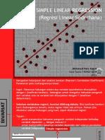 Simple Regression Analysis (Analisis Regresi Linier Sederhana)