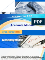 eresource Xcel ERP | ERP For Manufaturing Indusrty | Accounts Module