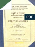 Smriti Chandrika Ahnika Kanda by Devana Bhatta No 44 1921 - Govt Oriental Library Mysore.pdf