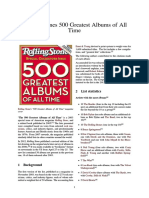Rolling Stone's 500 Greatest Albums of All Time