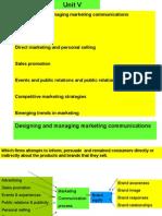 Marketing Management AU unit V