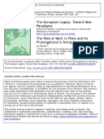 Brisson the Role of Myth in Plato and Its Prolongation in Antiquity