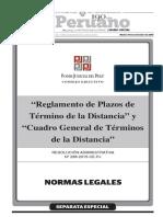 Reglamento de Termino de la Distancia 2015