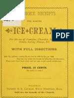 Ten Choice Receipts for Making Ice Cream (1881)