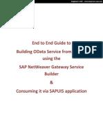 End to End OData Service SAPUI5 Application
